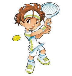 Baby Tennis Player vector image