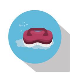 brush laundry isolated icon vector image