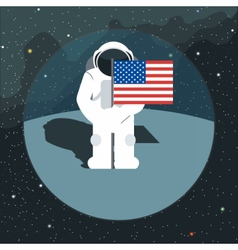 Digital with astronaut sign with usa flag vector image vector image