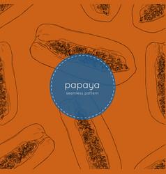 hand drawn papaya seamless pattern vector image vector image