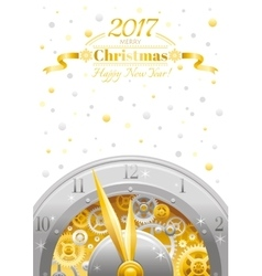 Merry Christmas and New year flyer Greeting card vector image vector image