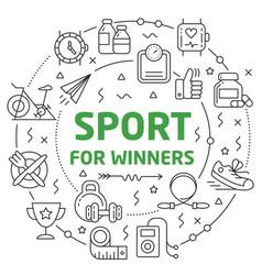 sport linear slide vector image