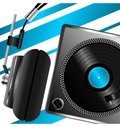 headphones musical theme vector image vector image