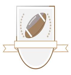 Rugby football logo emblem vector image