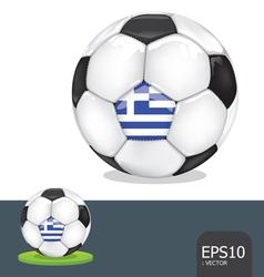 soccer euro greece vector image