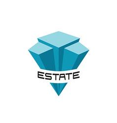 Real estate buildings logo template vector image