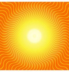 Sunburst Hot Heat Ray Background vector image