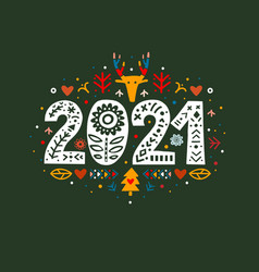 2021 merry christmas calligraphy template vector