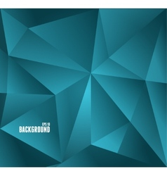 Abstract dark blue triangle background vector image