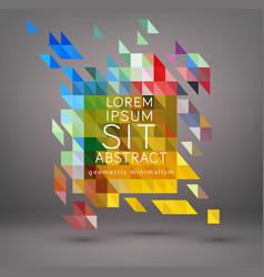 abstract geometric element modern minimalist vector image