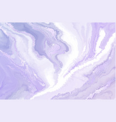 abstract violet liquid marble or watercolor vector image
