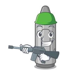 Army grey crayon isolated with cartoon vector