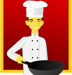 Asian cook vector