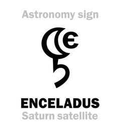 Astrology enceladus saturns satellite vi vector