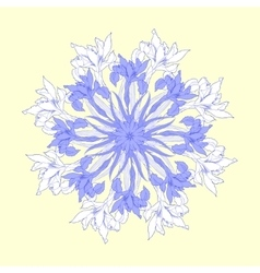 Background with round with blue irises vector