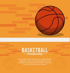 basketball sport ball championship poster vector image