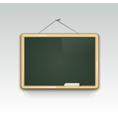 Blank school blackboard hanging on wall vector