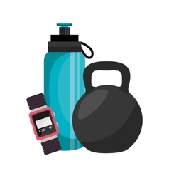 Bottle water gym icon vector