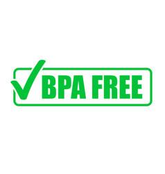 bpa free green check mark icon natural food vector image