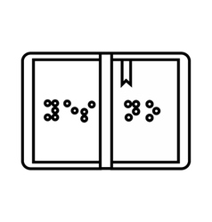 Braille icon outline style vector