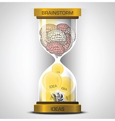 Brainstorm To Get Ideas With Sandglass Business vector