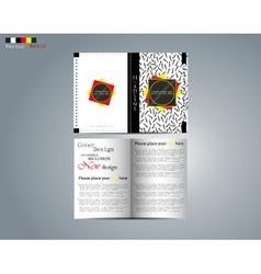 Broshure creative design vector image