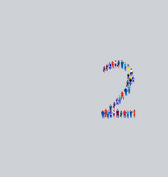 business people crowd gathering in number two 2 vector image