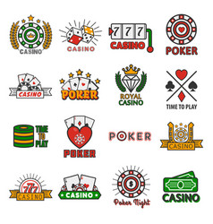 Casino poker templates of chips and gamble vector