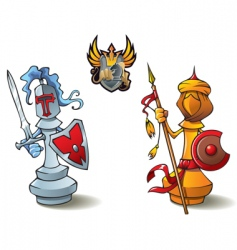 chess set bishops vector image