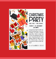christmas party gift item background vector image