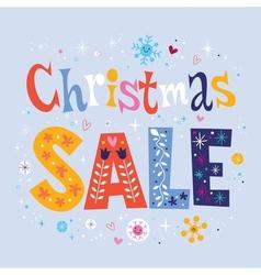 Christmas sale 2 vector image