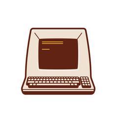 Classic computer historic computer vector