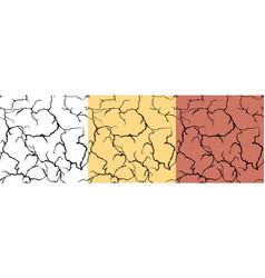 crack texture pattern design set black grunge vector image