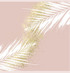 Elegant luxury nude rose pink blush and gold vector
