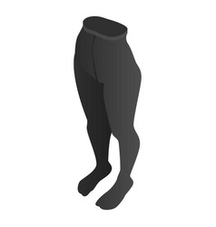 Figure tights icon isometric style vector
