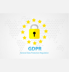 General data protection regulation background and vector