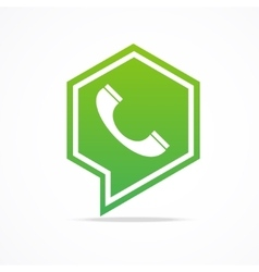 Green Phone Icon vector