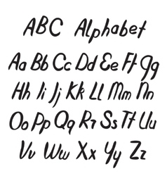 Hand drawn ABC letters Alphabet vector