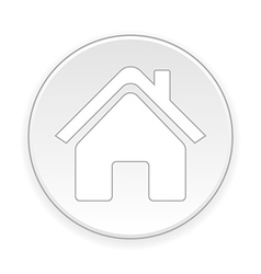 Home symbol button vector image