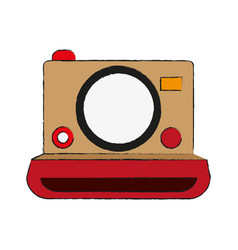 Instant photographic camera icon image vector