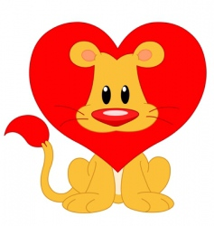 love lion vector image