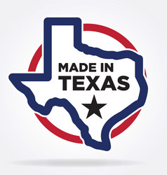 Made in texas logo 05 vector