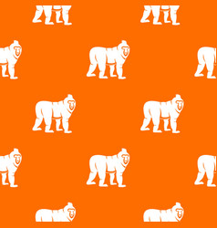 Mandrill monkey pattern seamless vector