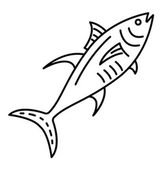 marine tuna fish icon outline style vector image