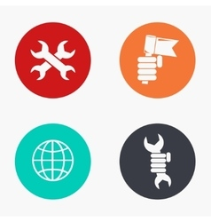 Modern labour day colorful icons set vector
