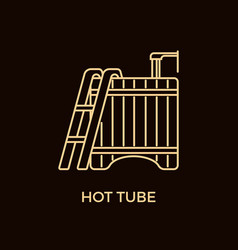 modern line style hot tub logotype template vector image