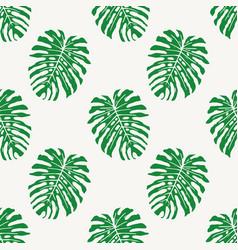 monstera deliciousa tropical leaf seamless vector image