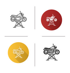 motorbike jack icon vector image