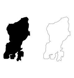 Muna island map vector