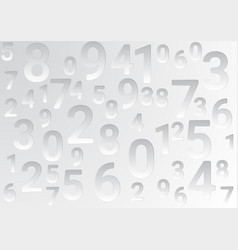 On a light background are different numbers vector